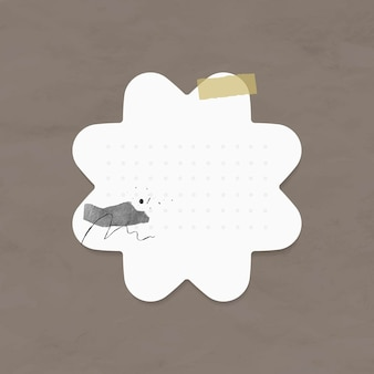 Elementos de papel de ponto vetorial de adesivos de planejador no estilo memphis