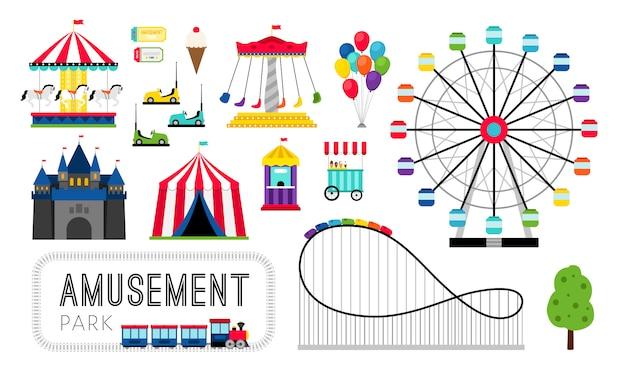 Elementos de parque de diversões