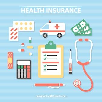 Elementos de saúde e ferramentas médicas