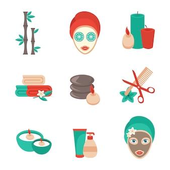 Elementos de spa, acessórios e conjunto de avatar