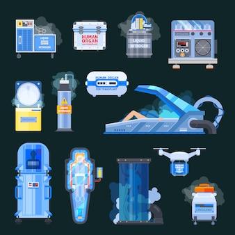 Elementos de transplante de órgãos humanos da cryonics