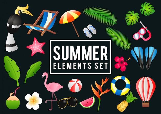 Elementos de venda de verão