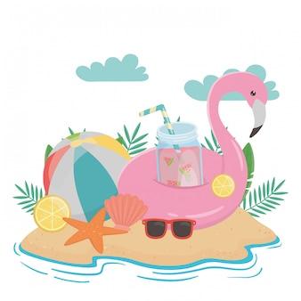 Elementos de verão e férias