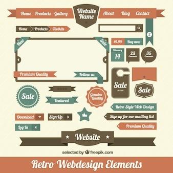 Elementos de web retro