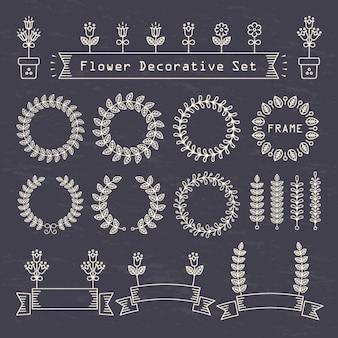 Elementos decorativos com pontos e linhas