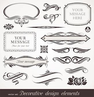 Elementos decorativos de design e decoração de página