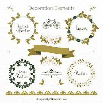 Elementos decorativos elegantes