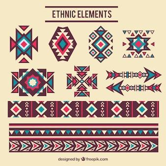 Elementos decorativos étnica