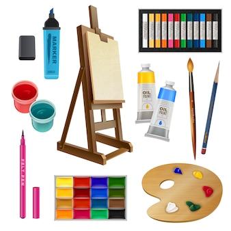 Elementos decorativos isolados artísticos