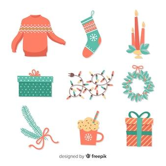 Elementos decorativos natal
