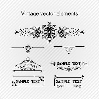 Elementos decorativos no estilo do vintage