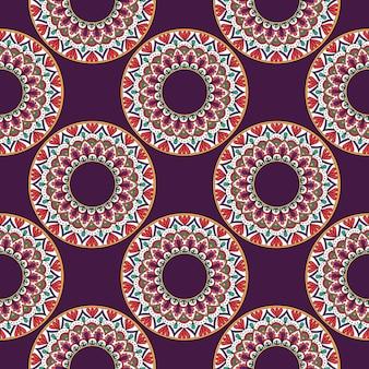Elementos decorativos vintage de padrão sem emenda