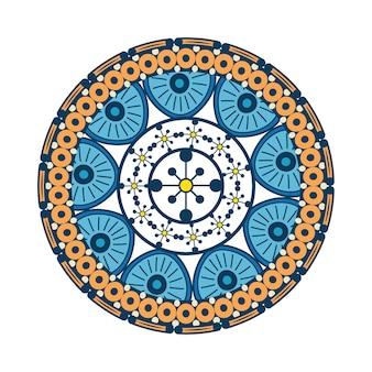 Elementos decorativos vintage mandala