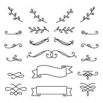 Elementos desenhados à mão