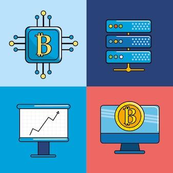 Elementos digitais e virtuais de negócios e moeda
