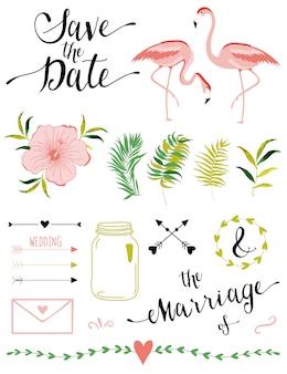 Elementos do casamento.
