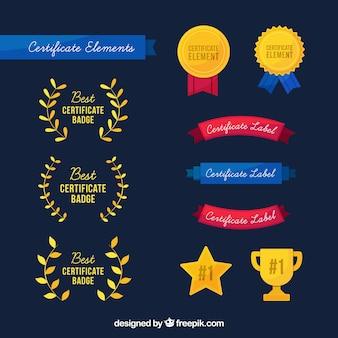 Elementos do certificado