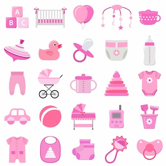 Elementos do conjunto de bebê