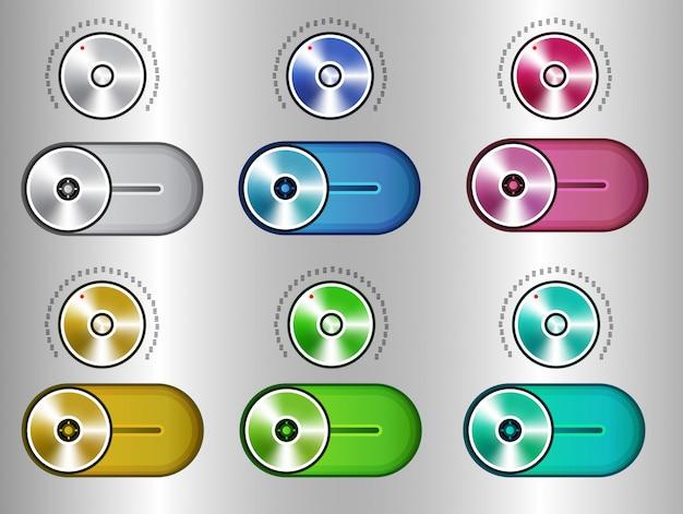 Elementos do kit de interface do usuário, conjunto de alternância do controle deslizante