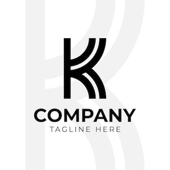 Elementos do modelo de design do ícone do logotipo da letra k