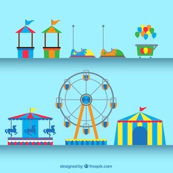 Elementos do parque de diversões