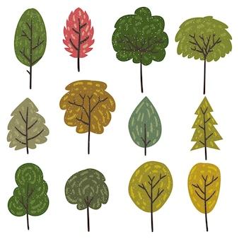 Elementos do vetor de árvores