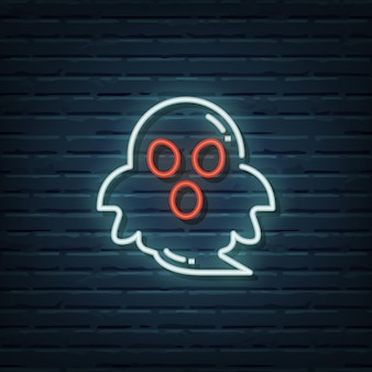 Elementos do vetor de sinal de néon fantasma