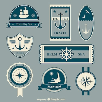 Elementos do vetor viagens náuticas