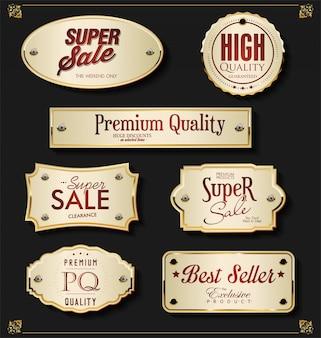 Elementos dourados premium de luxo