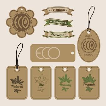 Elementos e etiquetas orgânicas