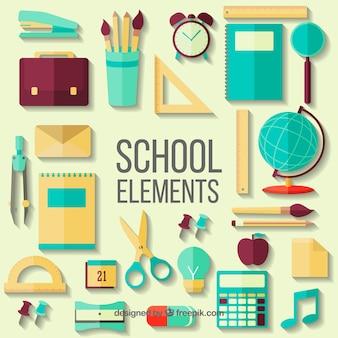 Elementos escolares planos