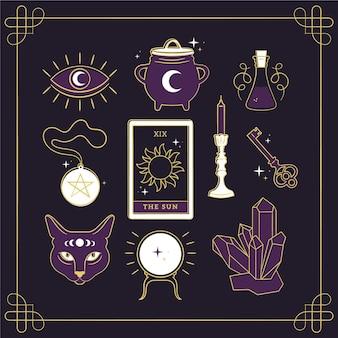 Elementos esotéricos ilustrados