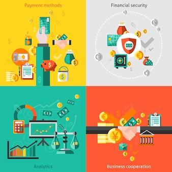 Elementos financeiros conjunto plano