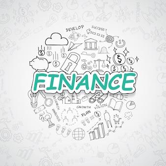 Elementos financeiros illustratio