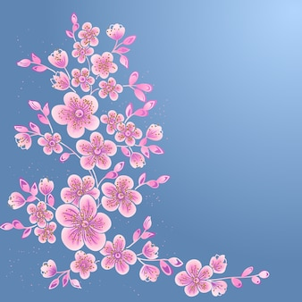 Elementos florais de desenho decorativo desenhados à mão para design. elemento de decoração da página.