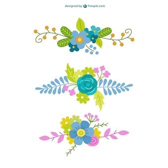 Elementos florais ornamentais