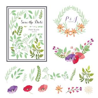 Elementos florais para casamentos