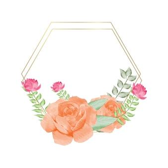 Elementos florais vetoriais e flores em estilo aquarela para cartões e convites de casamento