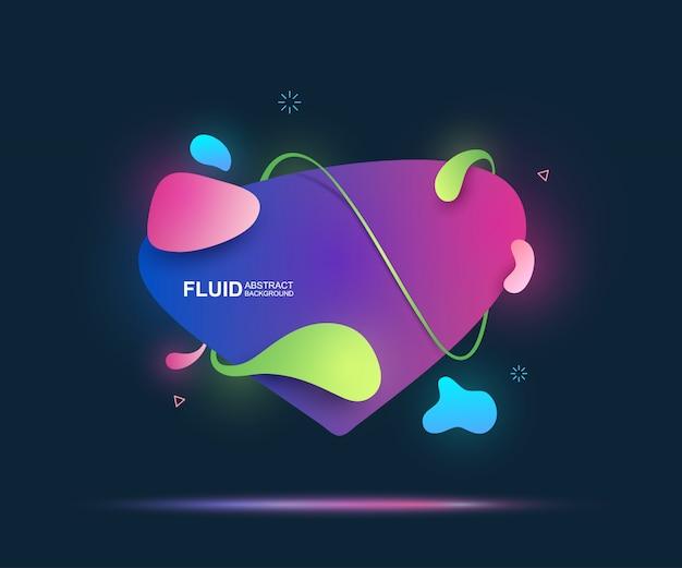 Elementos fluidos e modernos abstratos. formas coloridas dinâmicas e linha.