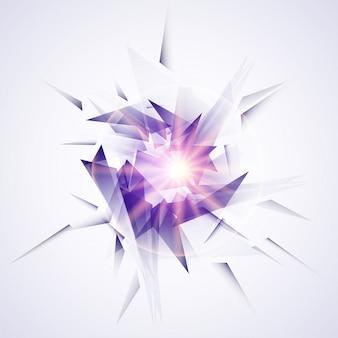 Elementos geométricos abstratos modernos com efeito explosivo.
