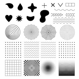 Elementos geométricos do vetor e fundos definidos para ilustrações abstratas e futuristas