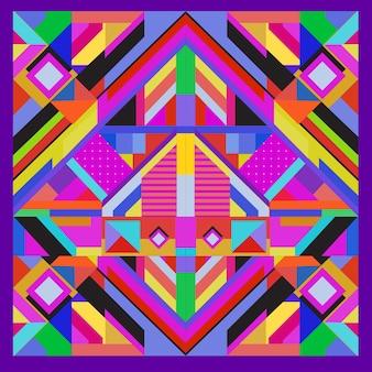 Elementos geométricos na moda memphis design de cartões de saudação. textura, padrão e elementos de estilo retro. pôster de design abstrato e modelo de capa modernos
