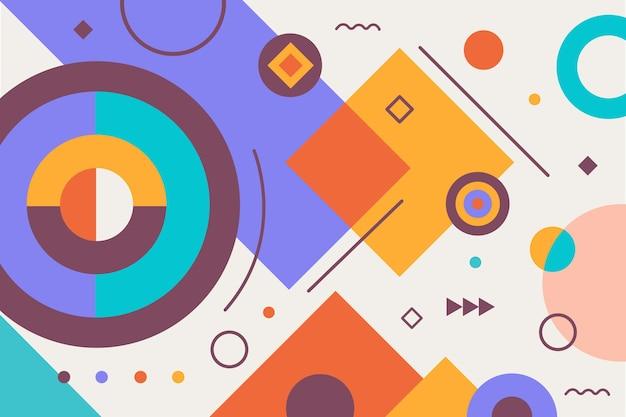 Elementos geométricos simples de design plano colorido