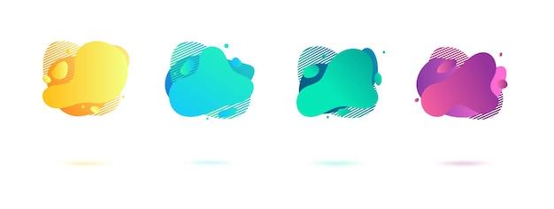 Elementos gráficos abstratos de gradiente dinâmico em estilo moderno.