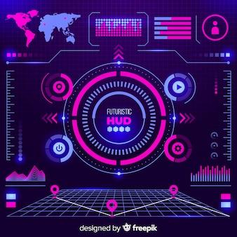 Elementos gráficos da nave espacial