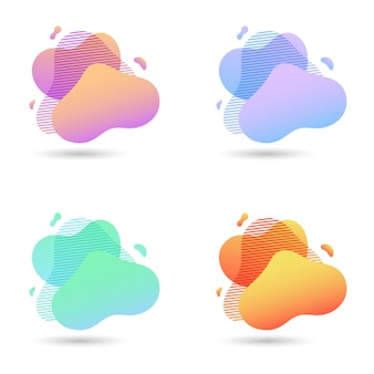 Elementos gráficos modernos abstratos