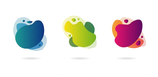 Elementos gráficos modernos do gradiente abstrato.