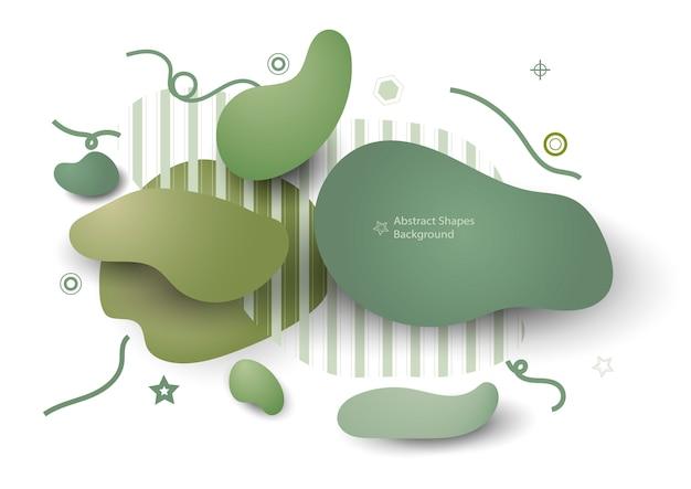 Elementos gráficos verdes abstratos de natureza
