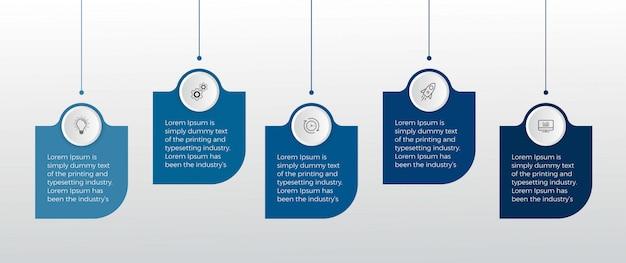 Elementos infográfico. opção número cinco infográfico