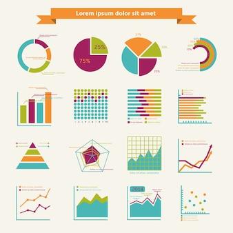 Elementos infográficos de negócios